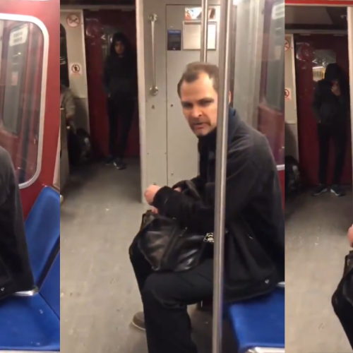 Gendered Islamophobia: Video of Man Screaming Islamophobic Abuse at Muslim Woman on Canadian subway