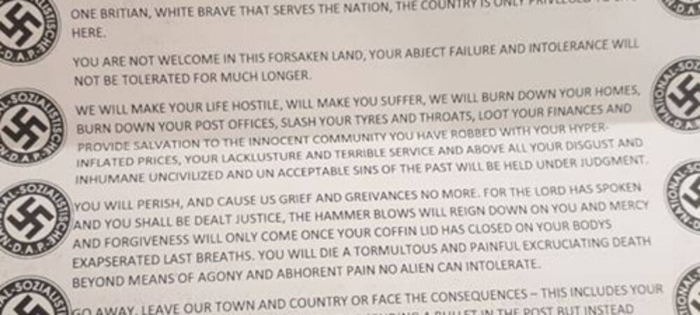 Racist, Threatening Letters Sent to Asian-Owned Businesses in Burnley