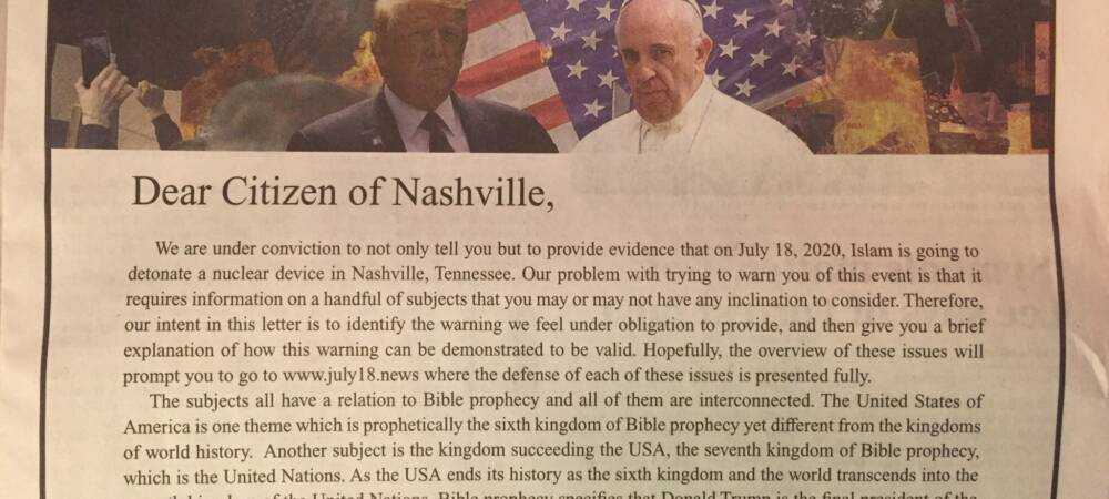 Tennessee Newspaper Publishes 'Horrific' Full-Page Anti-Muslim Ad