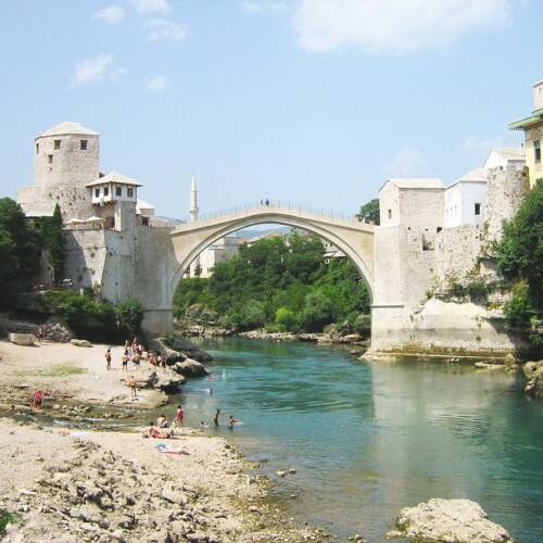 Bosnians Gather to Remember the Destruction of the Iconic Mostar Bridge